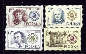 Poland 2488-91 MNH 1981 set