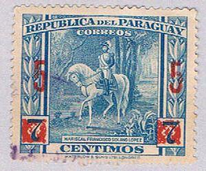 Paraguay 414 Used Surcharge 1945 (BP30618)