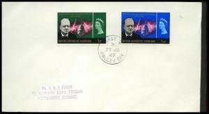 BR ANTARCTIC TERR 1967 cover BASE Z / HALLEY BAY cds......................91229W