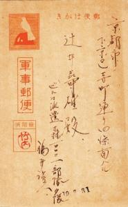 Japanese Forces in Burma to Japan, Postal Card, Censored (M3145)