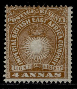 BRITISH EAST AFRICA QV SG9, 4a yellow-brown, M MINT.