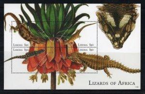 LIBERIA - 2011 Lizards of Africa  M2719A