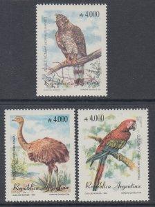 Argentina 1738-1740 Birds MNH VF