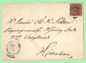 DEN SC #2 on cover (folded letter) w/clock side postmark CV $120.00+ (