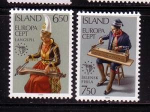 Iceland Sc606-7 1985 Europa stamps mint