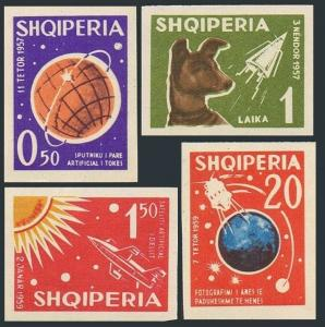Albania 621-624,624a imperf.Michel 668-671,Bl.10.Russian Space Explorations,1962