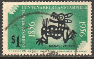 MEXICO 895, $1P Centenary of 1st postage stamps. Used (1025)