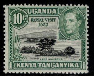 KENYA UGANDA TANGANYIKA GVI SG135d, 10c black & green, M MINT. PERF 13 X 12½