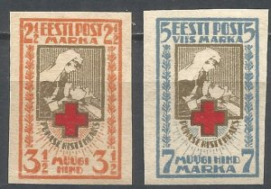 1921 Estonia 29-30b Red Cross 10,00 €