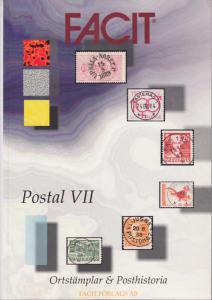 Facit Postal VII. Postal History, Locals & Cancels of Sweden catalogue, NEW