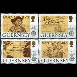 Guernsey MNH 467-70 Columbus Discovery Of America Europa 1992