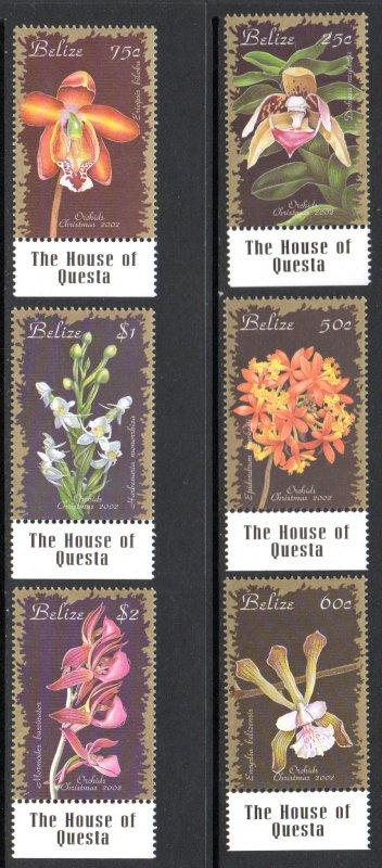 BELIZE 1157-62 MNH SCV $10.00 BIN $6.00 FLOWERS