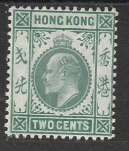 HONG KONG 1904 KEVII 2C MNH ** WMK MULTI CROWN CA