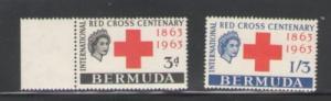 Bermuda Sc 193-4 1963 Red Cross stamps mint NH