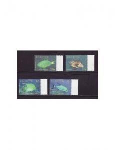 St Kitts - Caribbean Fish 4 Stamp  Set  STK1006C