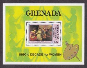 Grenada # 1062, Decade for Women - Painting, Souvenir Sheet, NH, 1/2 Cat.