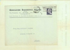 84843 - ITALY - POSTAL HISTORY - COVER & LETTER  sent by CHESS ASSOCIATION 1945