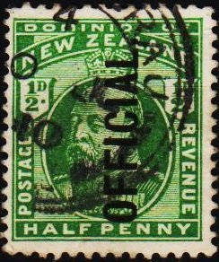 New Zealand. 1910 1/2d(Official) S.G.O73  Fine Used