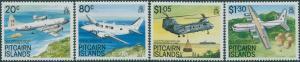 Pitcairn Islands 1989 SG348-351 Aircraft set MLH