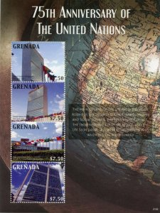 Grenada Architecture Stamps 2021 MNH United Nations UN 75 Yrs Skyscrapers 4v M/S