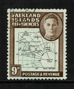 Falkland Islands SG# G7 Used / Break in 60* Meridian Variety - S6011