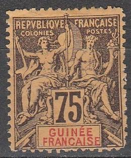 French Guinea #16  Unused  CV $65.00 (A12997)