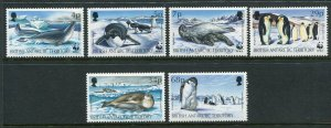 British Antarctic Territory Scott 192-97 1992 WWF Seals Penguins Mint NH