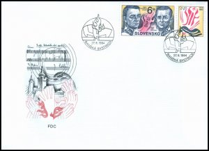 Slovakia 1994 FDC 39 Fiftieth Anniversary of the Slovak National Uprising - Gene