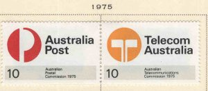 AUSTRALIA Scott 616-617 MH* 1975 pair