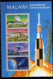 MALAWI 1981 INTERNATIONAL COMMUNICATIONS COMUNICAZIONI INTERNAZIONALI BLOCK S...