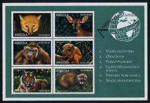 Angola 1063 MNH Animals, Tiger, Monkey