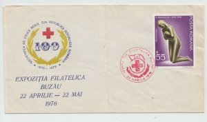 1976 ROMANIA COVER RED CROSS NURSE SPECIAL MARKING USED POST