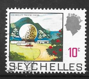 Seychelles 258: 10c Satellite Observation Station, 1969, used, VF