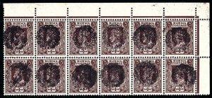 Burma Scott 1N46 Gibbons J19b Block of Stamps