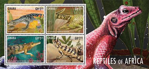 Ghana - Reptiles of Africa, 2013 - 1311 S/H MNH