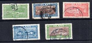 Iceland 1925 Views used set #144-148 WS21043