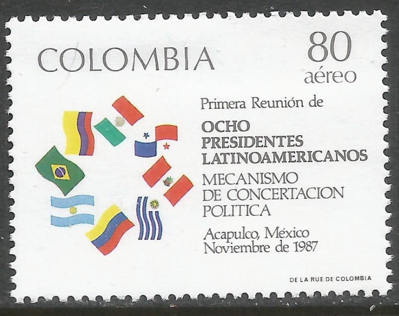 COLOMBIA C788 MNH FLAGS Z3074