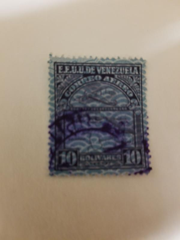Venezuela 10 cent stamp , scott #C32