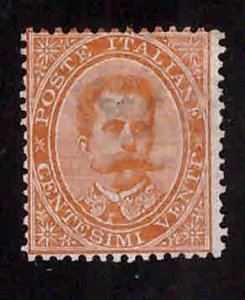 ITALY Scott 47 Mint No Gum sealed Thin, Faulty Filler