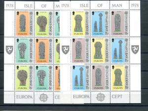 Isle of Man 1976 and 1978 Europa sheets VF NH