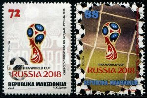 HERRICKSTAMP NEW ISSUES MACEDONIA Sc.# 788-89 Russia 2018 World Cup Soccer