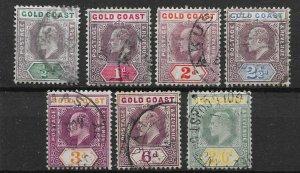 GOLD COAST SG49/57 1904-6 MULT CROWN CA WMK SET USED