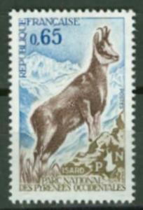 France # 1302  Pyenean Chamois    (1)  Mint NH