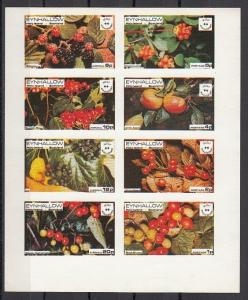 Eynhallow, 1974 issue. Fruits & Berries with Scout Anniversary noted. IMPERF.