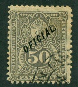 Paraguay 1892 #O40 U SCV (2018) = $0.35
