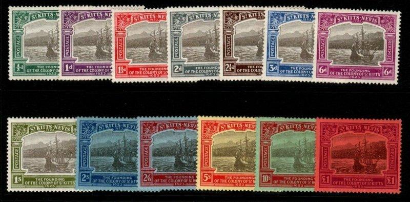 ST.KITTS-NEVIS SG48/60 1923 TERCENTENARY MTD MINT