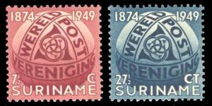Surinam 1949 Scott #238-239 Mint Never Hinged