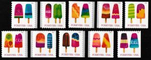 US 5285-5294 Frozen Treats forever set (10 single stamps) MNH 2018