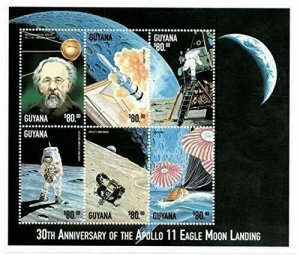 Guyana MNH S/S 9908 30th Anniversary Apollo 11 Moon Landing