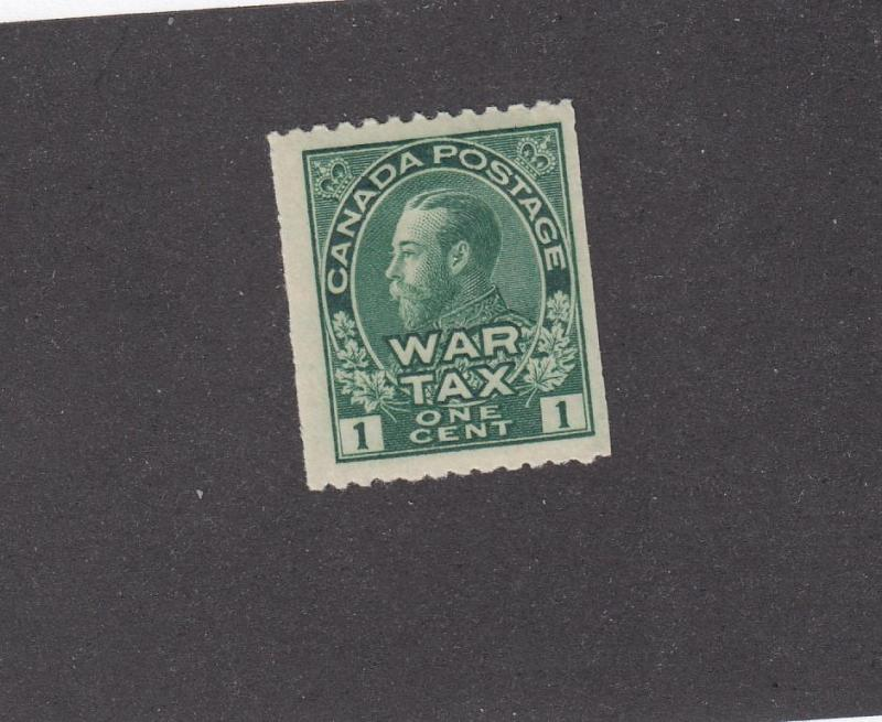 CANADA  BACK OF THE BOOK # MR1 FVF-MH KGV COIL WAR TAX CAT VAL $35